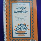 Recipe Reminder Index for your Favorite Cookbook Recipes