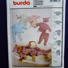 Burda Pattern # 9778 UNCUT Baby Wardrobe Size XS Small Medium Large