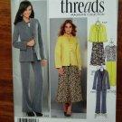 Simplicity Pattern # 1944 UNCUT Misses Threads Wardrobe Jacket Skirt Pants Size 8 10 12 14 16