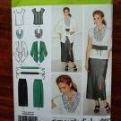 Simplicity Pattern # 1920 Misses Wardrobe Top Jacket Skirt Scarf Size 10 12 14 16