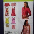 Simplicity Pattern # 2939 UNCUT Misses Mini Dress or Top, Shorts Jacket Size 4 6 8 10 12