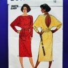 Butterick Pattern # 3236 UNCUT Misses Pull-over Dress Size 12 Vintage 1985