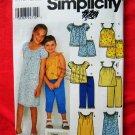 Simplicity Pattern # 9610 UNCUT Girls Top Dress Pants Shorts Size 7 8 10 12 14