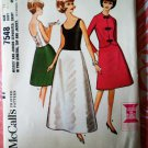 McCalls Pattern # 7548 UNCUT Misses Formal Dress Gown Size SMALL Vintage 1964
