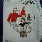 Kwik Sew Pattern # 1618 UNCUT Misses Western Shirt Size 14 16 18 20