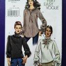 Vogue Pattern # 8290 UNCUT Misses Blouse Size 14 16 18 20