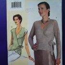 Vogue FIT Pattern #7024 Misses Wrap Top Size STRETCH KNITS Size XL XXL