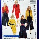 McCalls Pattern # 6116 UNCUT Misses Wardrobe Jacket Top Skirt Split Skirt Size20 22 24