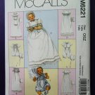 McCalls Pattern # 6221 UNCUT Infant Baby Christening Gown Accessories ALL Sizes