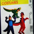 McCalls Pattern # 2335 UNCUT Boys Girls Costume DINOSAUR Size 5 6