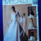 McCalls Pattern # 3449 UNCUT Misses Bridal Gown Bridesmaid Dress Size 12 14 16