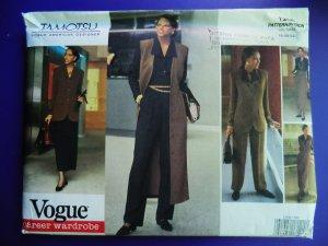 Vogue Pattern # 1200 UNCUT Misses Wardrobe Jacket Skirt Pants Size 18 20 22