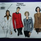 Vogue Pattern # 1643 UNCUT Misses Blazer/Jacket Size 18 20 22