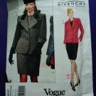 Vogue Pattern # 1837 UNCUT Misses Jacket Top Skirt GIVENCHY Size 8 10 12