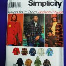 Simplicity Pattern # 9287 UNCUT Misses Jacket Vest Design Your Own Size Large XL