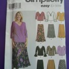 Simplicity Pattern # 5469 UNCUT Misses KNIT Tops Skirt Size 18 20 22 24