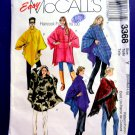 McCalls Pattern # 3368 UNCUT Misses Poncho Size Small Medium Large