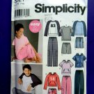 Simplicity Pattern # 5321 UNCUT Boys Girls KNIT Pants Shorts Tops Hoodie Size 7 8 10 12 14 16