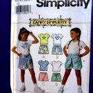 Simplicity Pattern # 7474 UNCUT Girls Knit Tops and Shorts Size 3 4 5 6