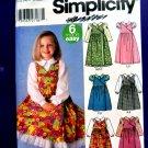 Simplicity Pattern # 5319 UNCUT Girls Dress Top Size 3 4 5 6