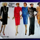 Vogue Pattern # 1631 UNCUT Misses Dress Length Sleeve Variations Size 12 14 16