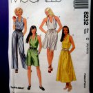 McCalls Pattern # 8232 UNCUT Misses Summer Halter Dress Size 10 12 14