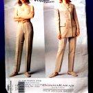 Vogue Pattern # 1981 UNCUT Misses Jacket Pants Donna Karan DKNY Size 8 10 12