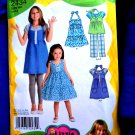 Simplicity Pattern # 2434 UNCUT Girls Dress Top and Pants Size 3 4 5 6