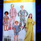 Simplicity Pattern # 3987 UNCUT Boys Girls Pajamas Nightgown Size 3 4 5 6