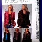 McCalls Pattern # 4972 UNCUT Misses Lined Jacket Variations Size 6 8 10 12