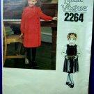 Vogue Pattern # 2264 UNCUT Girls Dress Jumper Blouse Size 4