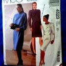McCalls Pattern # 4523 UNCUT Misses Dress Size 20