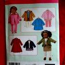 "Simplicity Pattern # 3551 UNCUT Doll Wardrobe Size 18"""
