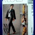 McCalls Pattern # 8781 UNCUT Misses Jacket, Bias Top Pants Size 12