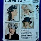 McCalls Pattern # 6077 UNCUT Misses Hat / Hats Mad Hatter ALL Sizes