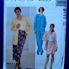 McCalls Pattern # 8111 UNCUT Misses Sarong Top Jacket Size 10 12 14