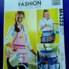 McCalls Pattern # 4322 UNCUT Apron Bucket Organizer All Sizes