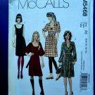 McCalls Pattern # 5468 UNCUT Misses KNIT Dress Jumper Size 6 8 10 12 14