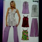 New Look Pattern # 6814 UNCUT Misses Top Variations Pants Size 8 10 12 14 16 18