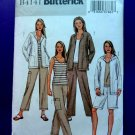 Butterick Pattern # 4141 UNCUT Misses Hoodie Top Pants Size XS Small Medium