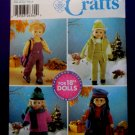 "Simplicity Pattern # 5676 UNCUT Doll Wardrobe 18"" Doll Clothes"