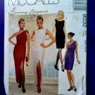 McCalls Pattern # 9032 UNCUT Misses Lined Evening Dress Off the Shoulder Size 4 6 8