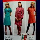 Simplicity Pattern # 3559 UNCUT Misses Retro 60's Dress Size 6 8 10 12 14
