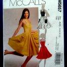 McCalls Pattern # 5657 UNCUT Misses Summer Halter Dress Size 4 6 8 10 12