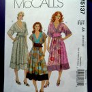 McCalls Pattern # 5137 UNCUT Misses Pull-Over Dress Size 6 8 10 12