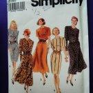 Simplicity Pattern # 8529 UNCUT Misses Dress Slim or Flare Skirt Size 20 22 24 26
