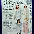 McCalls Pattern # 6888 UNCUT Womans Blouse Variations XL Size 20 22