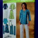 Simplicity Pattern # 4149 UNCUT Misses Skirt Pants Tunic Scarf Size 10 12 14 16 18