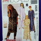 McCalls Pattern # 2525 UNCUT Womans Caftan Variations Pants Size 18 20 22 24