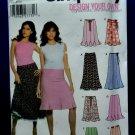 Simplicity Pattern # 5065 UNCUT Misses Skirt Variations Size 14 16 18 20 22